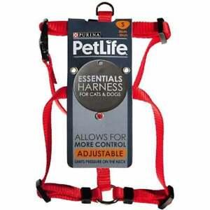 Petlife Nylon Adjustable Harness Red