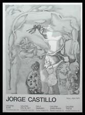 Jorge Castillo Surreale Komposition Poster Bild Kunstdruck im Alu Rahmen 76x56cm