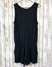 Wilfred Free Aritzia Black Soft Jersey Drawstring Tank Romper M Medium FLAW