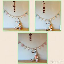 TWINS CHRISTENING Baby shower Vintage Hessian Bunting Banner. NEW BABY