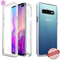 For Galaxy S10 Plus Case Clear Full Body Rugged Support Screen Protector UNLOCK