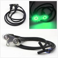 Green LED CNC Aluminum Motorcycle Handlebar Adjustable Self-return Switch Button