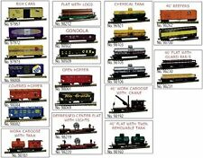 Model Power HO Trains Freight Car Set (24 Pack) w' Knuckle Couplers 99653