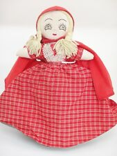 """Topsy Turvy Little Red Riding Hood Doll Three Faced Wolf and Grandmother 14"""""""