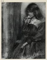 1905  Tipped-in Halftone, Robert Demachy, Margaret, Pictorialism