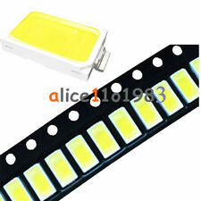 100PCS 120° SMD SMT-EE132 5730 White 6050-7000K LED Light Bead 50-55LM 3.3V-3.6V