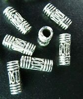 150pcs Tibetan Silver Metal Wire Curved Tube Spacer Beads T27