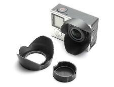 PARASOLE LENS HOOD F. GoPro Go Pro Hero 3, 3+, 4 Sun Shade Cap protezione lente