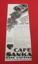 ADVERTISING PUB PUBLICITE ANCIENNE ADVERT 2.3 CAFE SANKA SANS CAFEINE VOTRE CAFE