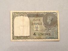 ~British India One Rupee 1940 Banknote George Vi P 25