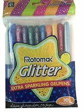 Rotomac Glitter Gel 10 Colours Sparkle Gel 10 Pens