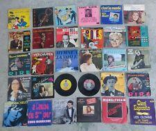 LOT 370 + VINYLES 45 T Variete Francaise Pop Rock Disco musique film old song 30