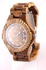 Reloj De Madera Nogal Hombre Talla Mujer Fecha 46mm Bewell Producto A Regalo