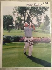 Miller Barber Hand Signed 8x10 Photo PGA Golf Signature Autograph
