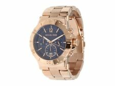 New Michael Kors MK5410 Women's Chronograph Dylan Rose Gold-Tone 42mm Case Watch