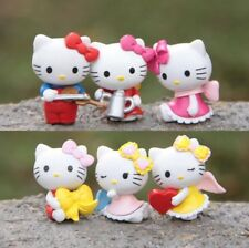 6ps Trumpet The angel Hello kitty Anime action figure collection PVC Toys Gifts