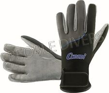 Cressi Tropical Scuba Water sports five finger, light weight neoprene Gloves