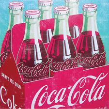 "POP ART COCA COLA BOTTLE Classic Art 15x15"" canvas Wall Art Wood Frame 1970's"