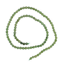 "CANADIAN JADE 4MM FACETED ROUND BEADS 15"" AA+ #1L"