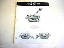 Oliver OC-6 Crawler Tractor Sales Sheet         b3