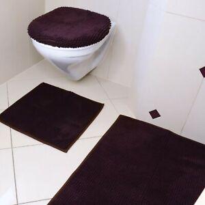 *3tlg Set Bruno Banani Badteppich Badgarnitur Teppich Badematte Toilettenbezug**