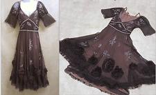 Nataya black lace dress vintage titanic style sz M medium