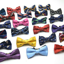 NEW Baby Toddler Boys Pre Tied Patterned Jacquard Bow Tie Dickie Bow *UK*