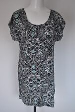 Green viscose casual summer holiday evening party skater dress size 12 E-vie