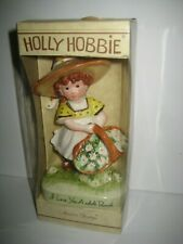 Vintage Holly Hobbie Figurine I Love You a Whole Bunch Mint in Box