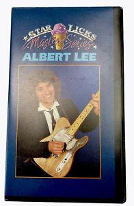 Star Licks Magic Series Albert Lee VHS Video Cassette Tape PAL