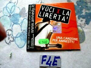 CD MUSICA VOCI PER LA LIBERTA AMNESTY  PER BRANI VEDI FOTO 2 (F4E)