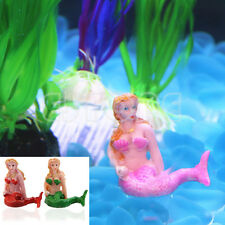 Hot Resin The Little Fish Aquarium Mermaid Tank Decorations Ornaments Home Decor