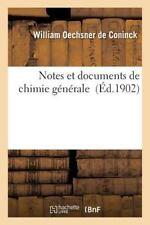 Notes et Documents de Chimie Generale by Oechsner De Coninck-W (2015, Paperback)