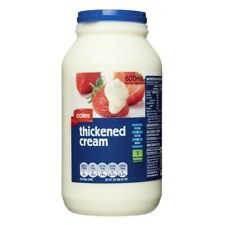Coles Vegetarian Pasteurised Whip Cook Pour Thickened Cream Bottle 600mL