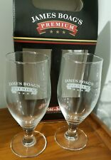 James Boag's Premium Beer Glasses Twin Pack Fathers Day Giftware  Man Cave 350ml