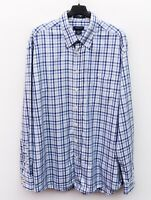 GANT 'Linpoint Twill' Men's XL Shirt Formal Cotton Casual Long Sleeved Checked