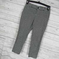 Banana Republic 00P Pants Womens Black White Pattern Hampton Pants Petite