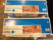 Quantity 2 - NIB Sealed C4192A Cyan HP Color Laser Jet Ink Cartridges