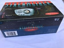 SPIRIT STREAMLINER am-fm radio lighted dial scale battery/dc jack operated NEW
