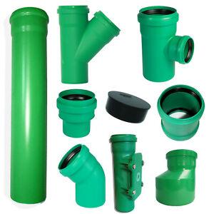 KG 2000 Rohr, Bogen, Abzweig, Muffe, Muffenstopfen Dn 110 - Dn 160 KG grün