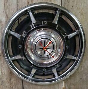 1968 Chevrolet Corvair Hubcap Wall Clock- Garage- Vintage Cars- Handmade