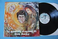 """DON BACKY """"LE QUATTRO STAGIONI"""" LP PROMO +tavolozze - QUASI PERFETTO"""