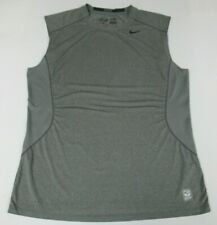 NIKE DRI-FIT PRO COMBAT SLEEVELESS XL FITTED GRAY ATHLETIC T-SHIRT D586