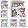 3D Rainbow Unicorn Kids Bedding Set Duvet Cover Pillowcase Quilt/Comforter Cover