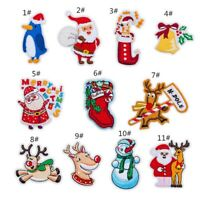 Christmas Craft Sew On Embroidered Repair Patch Applique Badge DIY Apparel 0MJ&@
