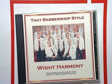 The Barbershop Style	Wight Harmony CD Mint