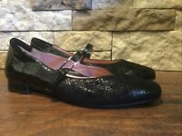 Beautifeel Black Mary Janes Dress Shoes Flats Womens Size 40