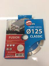 disque diamant  béton armé fusion leman diam 125 neuf