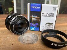 Olympus V311050BE000 M.Zuiko Digital 17mm F/1.8 Wide Angle Lens - Black