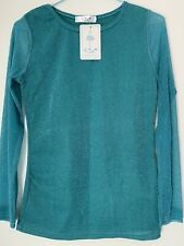 Glittery Green Top Size L On Label But Tight Fit So It's More On Medium Size